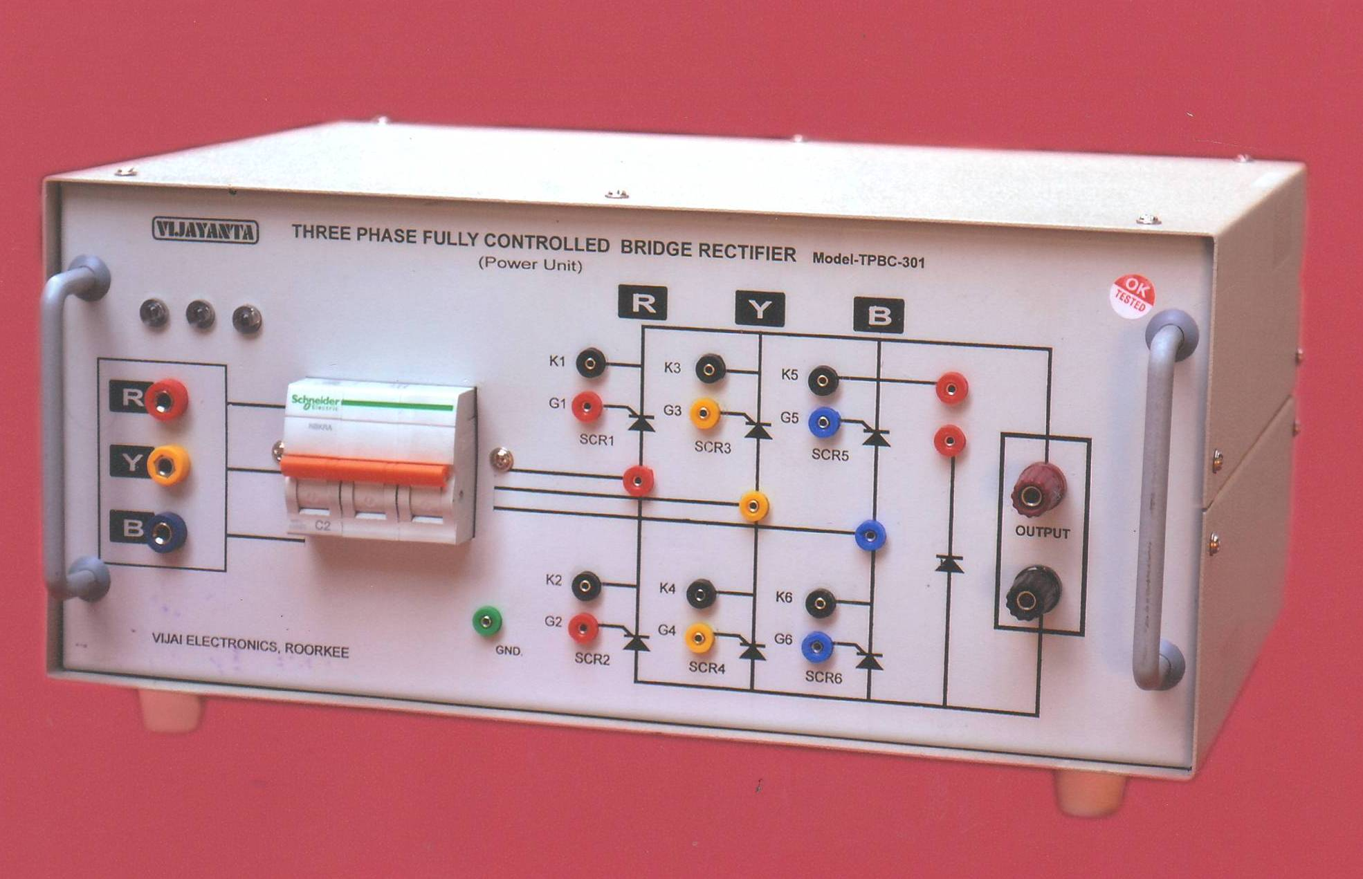 Vijayanta Roorkeeuttarakhand Operation Of A 3phase Fullycontrolled Rectifier Three Phase Full Half Controlled Bridge Model Tpbc 301hf